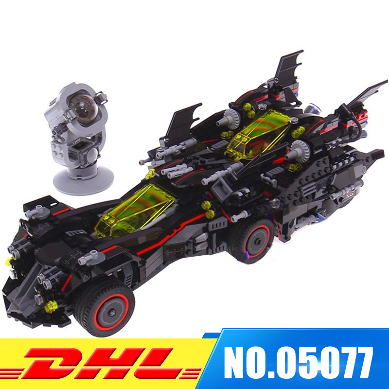 IN Stock Lepin 07077 1496Pcs Genuine Batman Movie Series The Ultimate Batmobile Set Building Blocks Bricks Toys Model 70917 lepin 07060 super series heroes movie the batman armored chariot set diy model batmobile building blocks bricks children toys