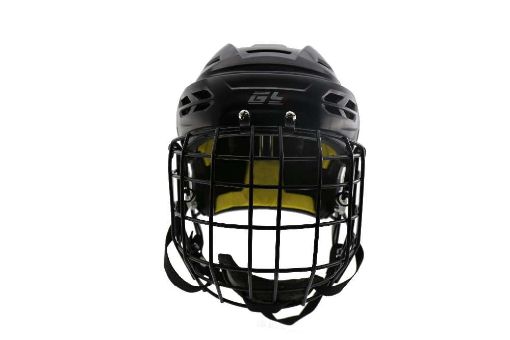 NEW Ice Hockey Helmet High Level Black magideal ice hockey helmet soft eva liner with cage for player hockey face shield xs s m l xl