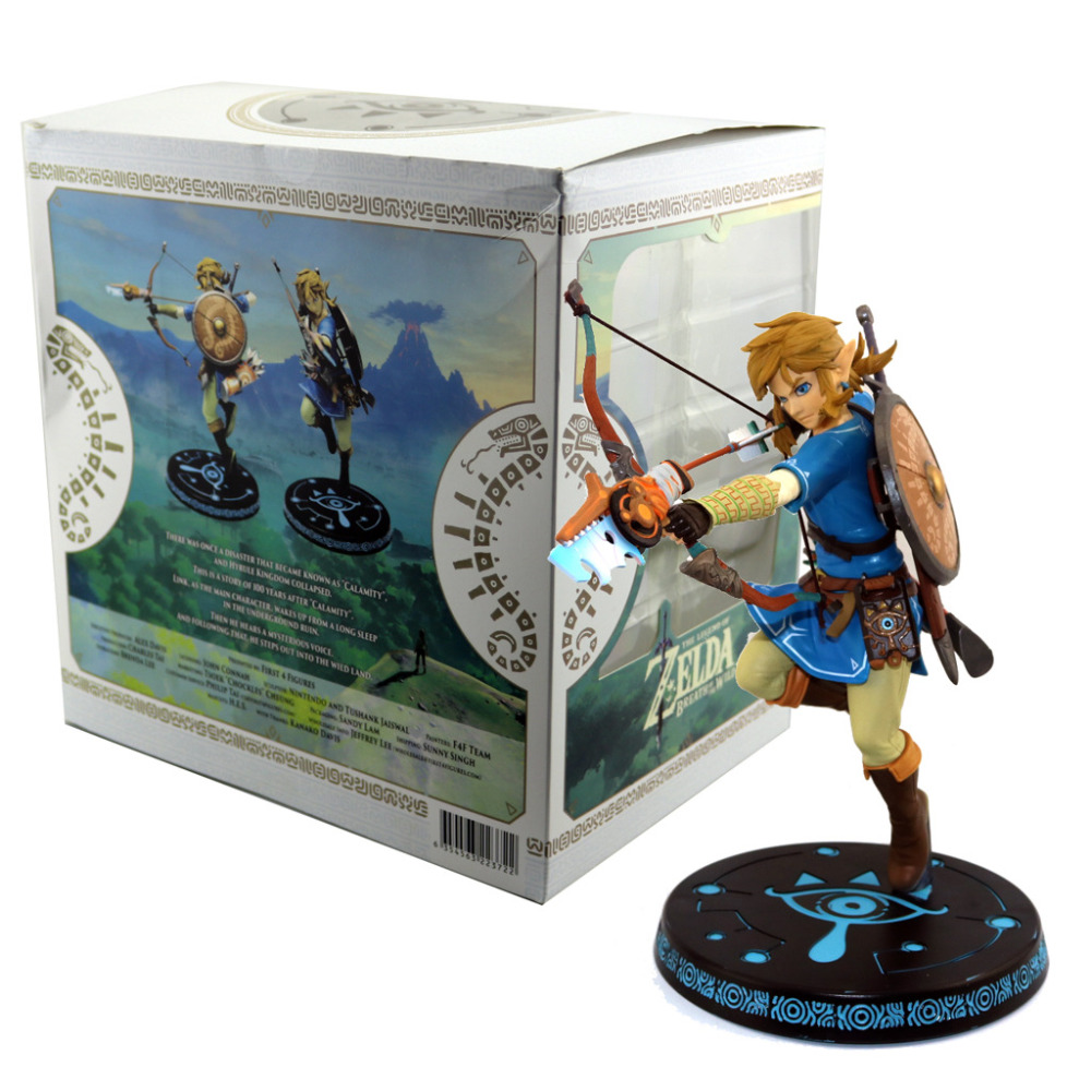 ALEN Link Zelda Legend of Zelda Figure BREATH OF THE WILD LINK 32CM Model Action Figures Pvc Rinquedo нож для пиццы dosh i home orion 100119