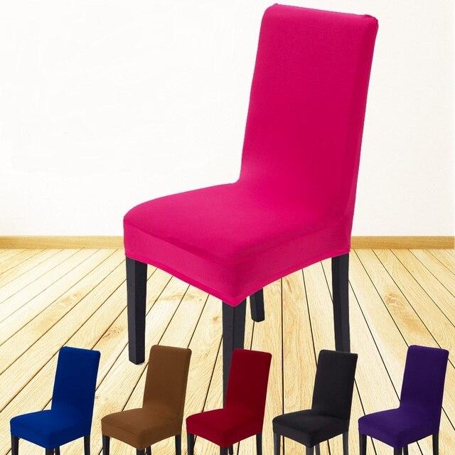 4 STKS Spandex stoel cover super elastische restaurant stoel cover ...