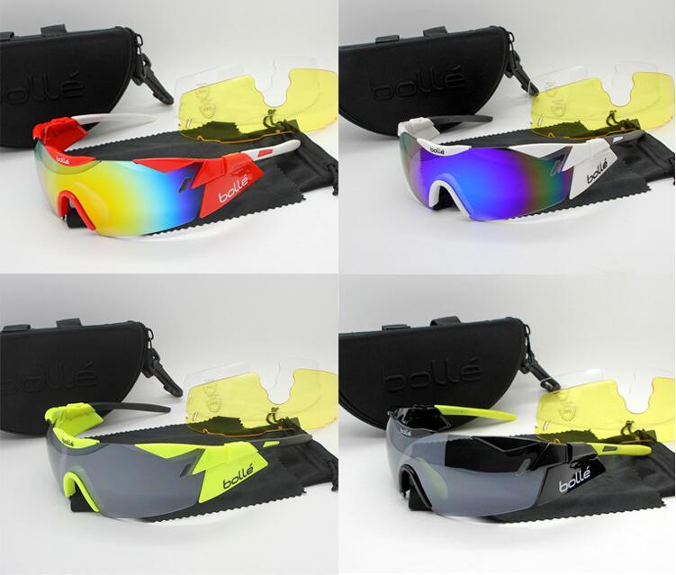 Prix pour Haute qualité 4 couleurs 3 lentille France Marque oculos polarisé TR90 lunettes Lunettes De Soleil sport cyclisme radarlock lunettes googles