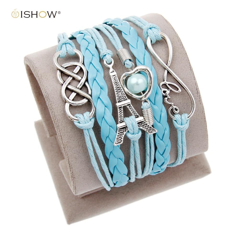 Vintage Braided Anchors Rudder bracelete Love owl best friends Leather Bracelet men jewelry heart Rope wrap Bracelets for women