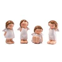 4 teile/satz SaiDeKe Exquisite Hochwertige Engel ornamente harz handwerk Figuren Europäischen abbildung fee dekoration für wohnkultur