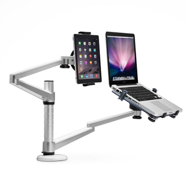 Universaalne 2 in 1 kahe relvaga tahvelarvuti sülearvuti seista IPad - Tahvelarvutite tarvikud - Foto 2