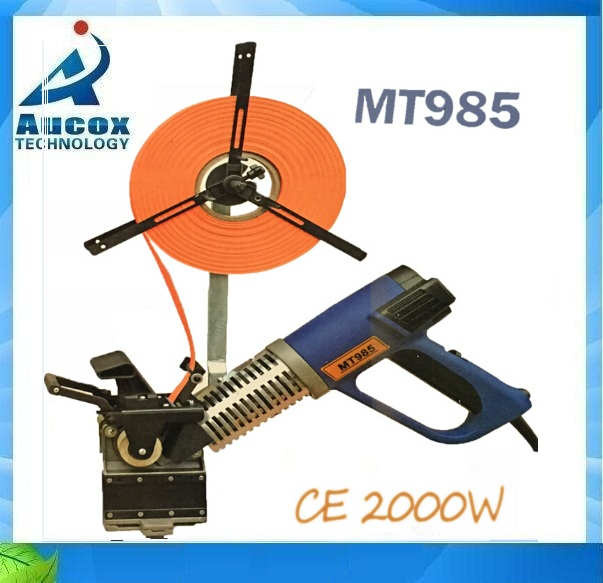 MT985 woodworking portable edge bander banding machine with free 2pcs edge trimmer