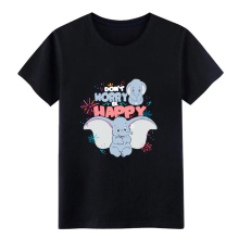 dumbo don t worry be happy shirt men Customized cotton Crew Neck Basic Solid Cute Comical Spring Autumn Trend tshirt
