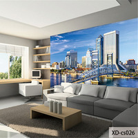 Custom Print DIY Fabric Textile Wallcoverings For Walls Washable Cloth Seamless Matt Silk For Living Room