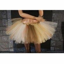 559243dc03 Falda tutú estilo gótico 2018 moda Mini faldas para adultos Extra Puffy  mezclado oro marfil marrón baile tul falda personalizada.