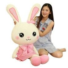 Gigante dia dos namorados amor vestido coelho pelúcia bonecas 80/100cm animais de pelúcia anime kawaii coelho brinquedos macios menina favorito presente f070