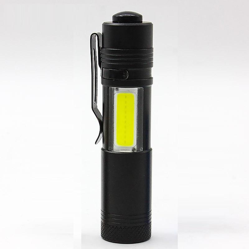 New Hot Mini Flashlight 4 Modes COB XPE Led Flashlights portable small COB Torch EDC Light for Camping