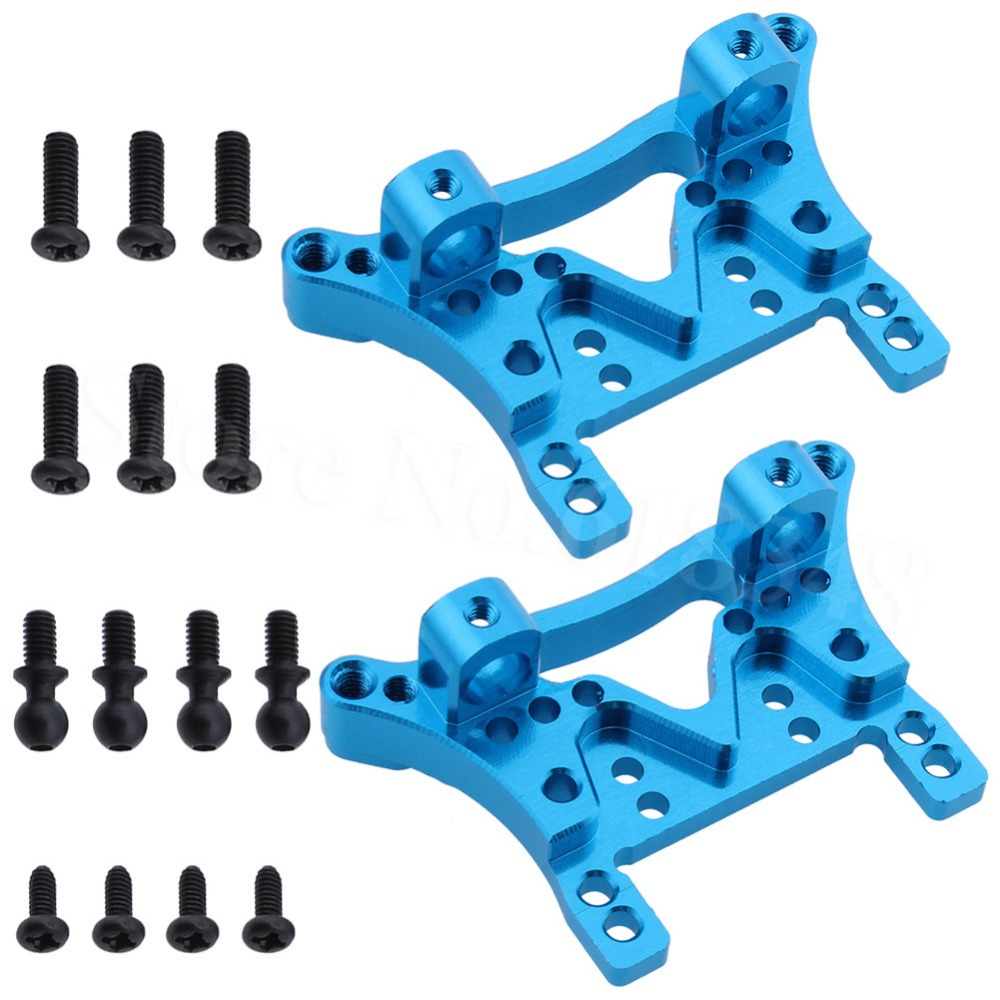 Aluminum Front & Rear Shock Tower A949-09 For WLtoys A949 A959 A969 A979 K929 1/18 Scale RC Model Car Spare Parts 12t 15t 24t 38t metal front rear differential motor driving gear upgrade parts two sets for wltoys a949 a959 1 18 rc car