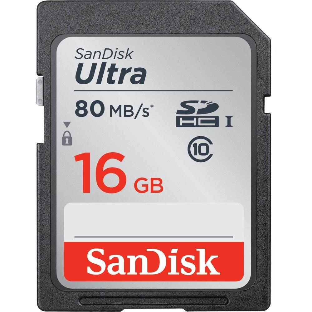 SanDisk Ultra SD Carte 32GB16GB sd Carte Mémoire 64 gb 128 gb C10 80 mb/s SDHC/SDXC UHS-I pour caméra cartao sd carte mémoire