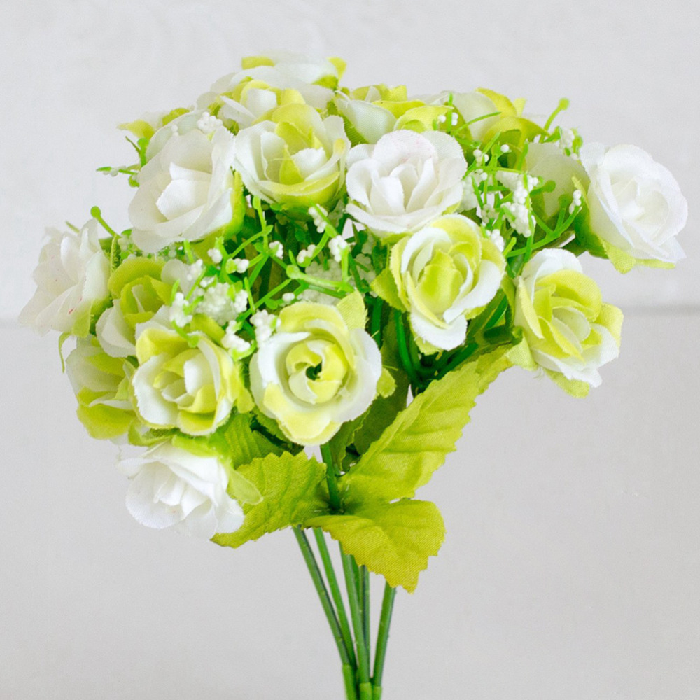 1 Bouquet 21 Heads Artificial Flower Simulation Diamond Rose Fake