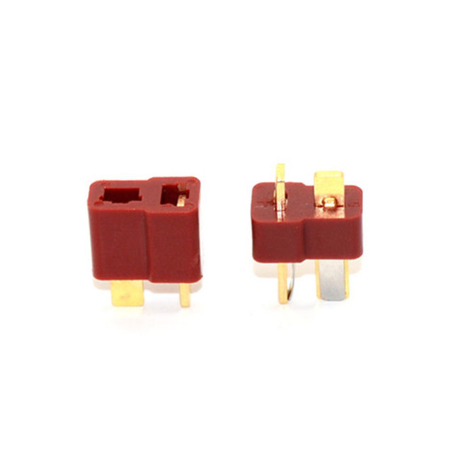 10 pares de agarre dorado slip T plug Deans conector antideslizante para RC ESC Lipo batería