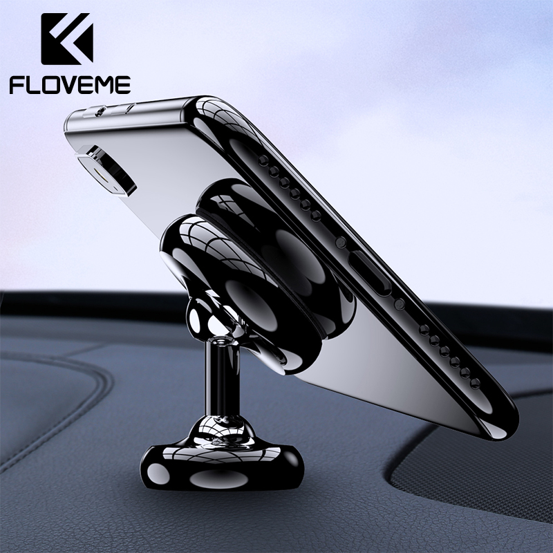 FLOVEME Car Phone Holder For Phone In Car Mobile Support Magnetic Phone Mount Stand For Tablets And Smartphones Suporte Telefone in Phone Holders Stands from Cellphones Telecommunications