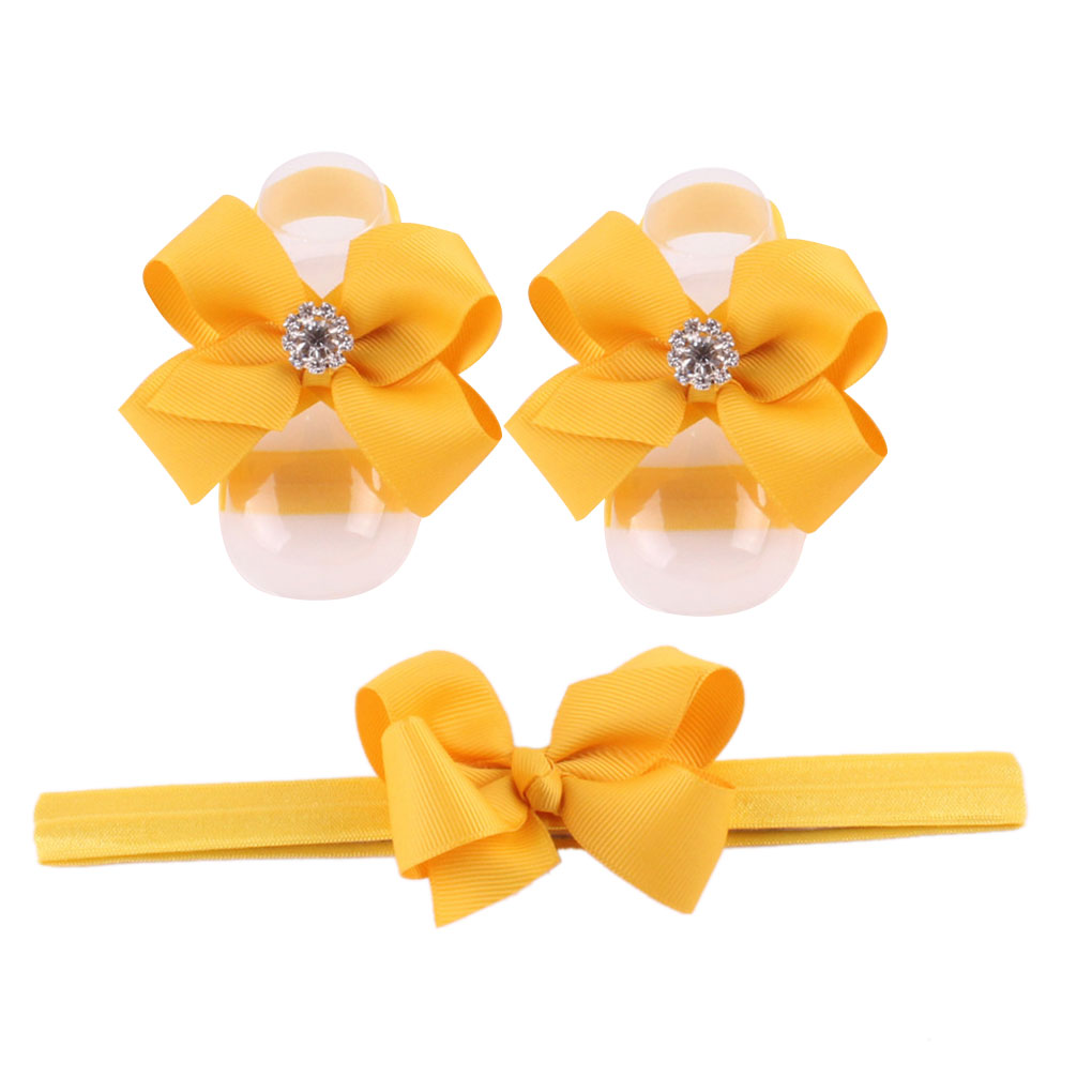 Baby Foot Flower Elastic Anklets Infant Barefoot Sandals Newborn Flower Socks Cover Foot Accessories