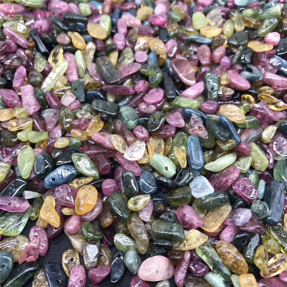 HIMABM 1 pack 100g Drilled Tourmaline Chakra Spiritual Healing Crystal stone Magnet Therapy Healthstone Spirituality Yoga