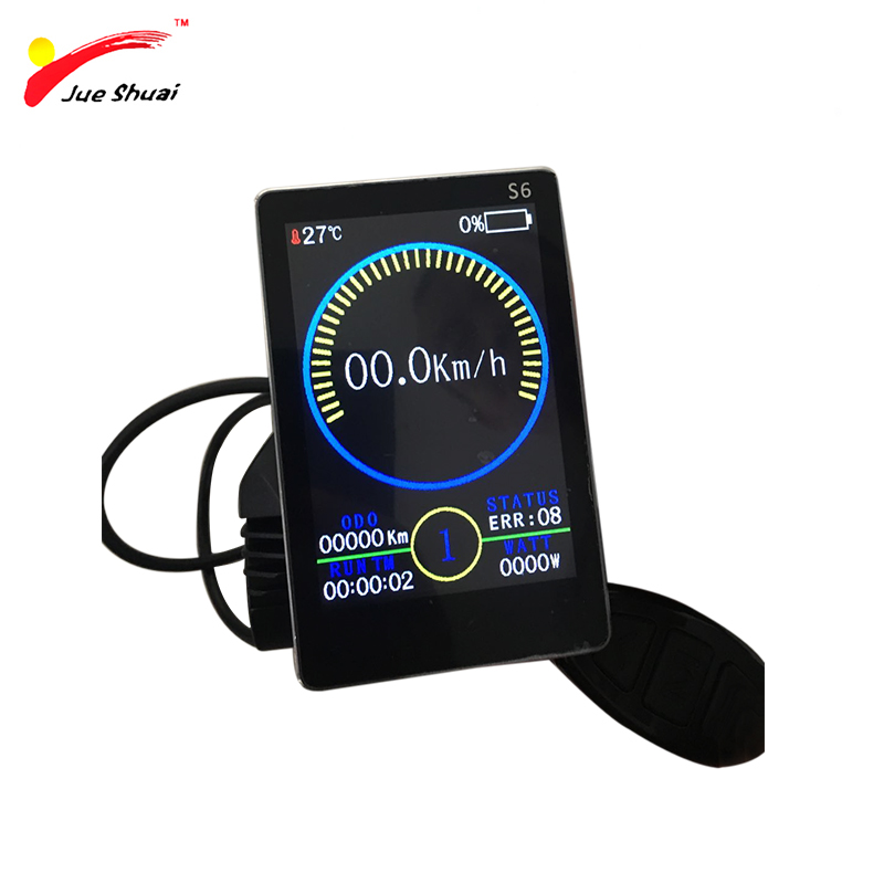 Free Shipping Ebike LCD Display Full Color 24/36/48V intelligent LCD Display Available For Electric Bicycle bike Parts control gabriel de mably oeuvres complètes t 2