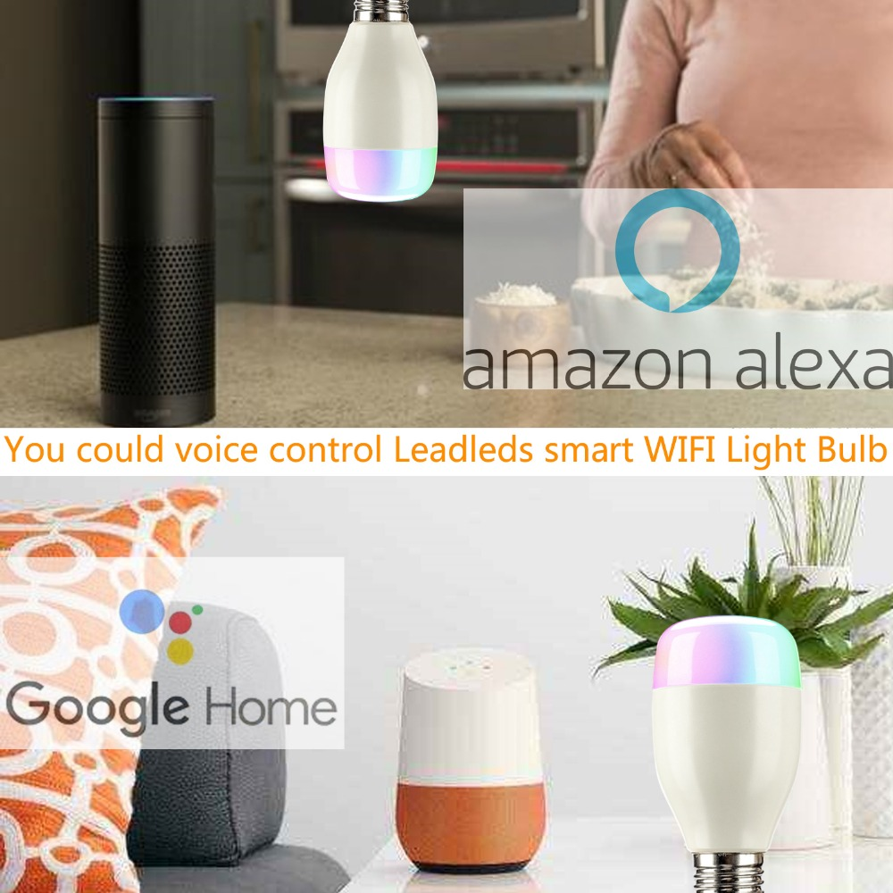 E27 RGB 7W WIFI LED Smart Bulb Ball Lamp Dimmable Color LED Light Bulb Works with Alexa Google Home iOS Mobile Phone APP Control