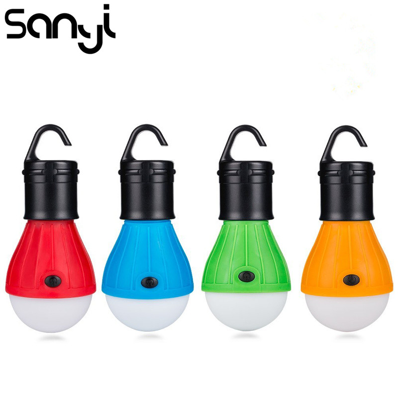Portable Hanging Tent Lamp Emergency COB LED Bulb Light Camping Lantern For Mountaineering Activities Backpacking