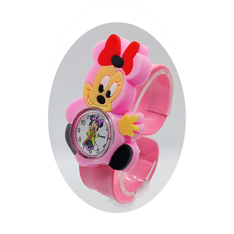 Child Watch Mickey Mermaid Girls Minnie Birthday-Gift Colorful Students Cat for Rubber-Strap
