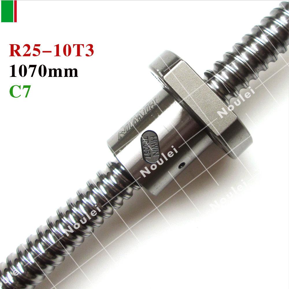 HIWIN R2510-FSI 1070mm Rolled Ball screw 1pc+1pc ball nut for and end machined high stability linear CNC diy kit
