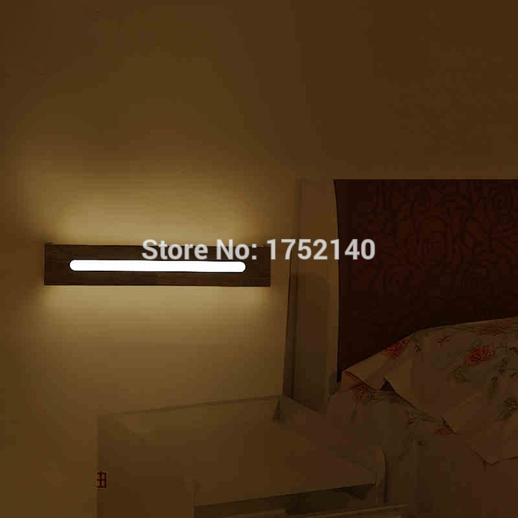 ФОТО 55 cm long Wood led wall lamp chinese style stair bathroom mirror light bedroom bedside lamp japanese style lamps, Haomer