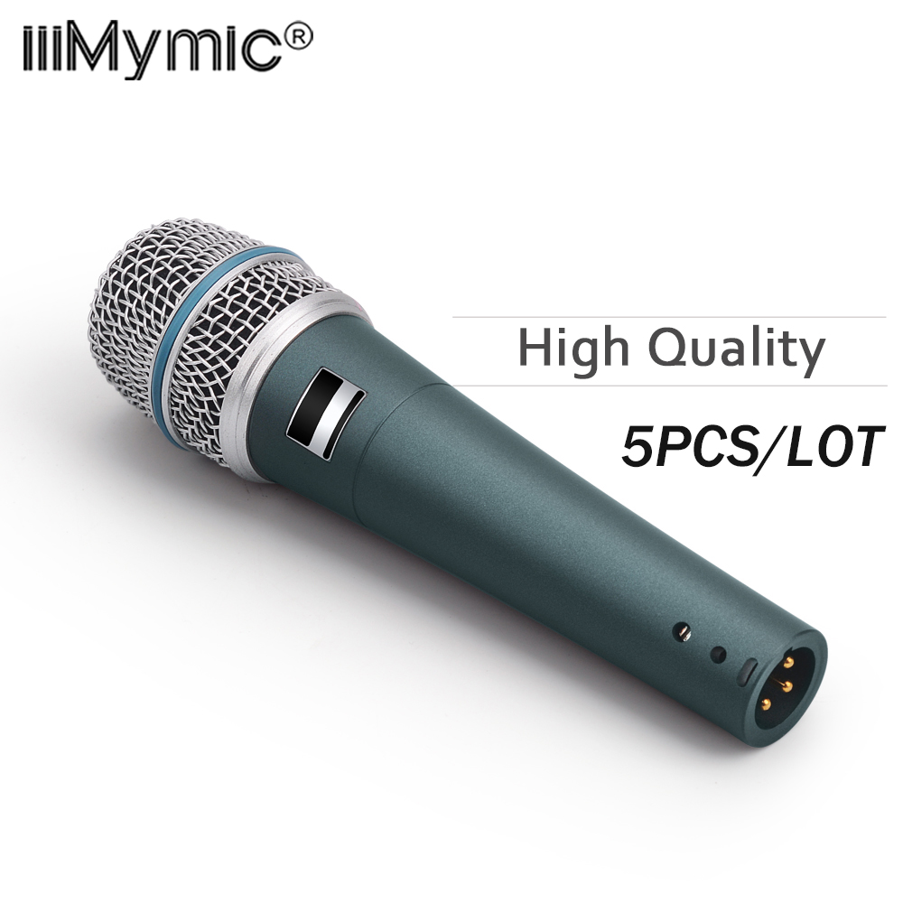 5PCS LOT New High quality Studio BT 57A Clear Sound Handheld Wired Karaoke Microphone Mic Supercardioid