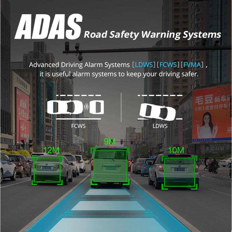 Phisung E08 più Auto DVR 10 IPS di Tocco 4G Specchio DVR Android ADAS GPS FHD 1080P WIFI auto cancelliere rear view mirror con la macchina fotografica - 3