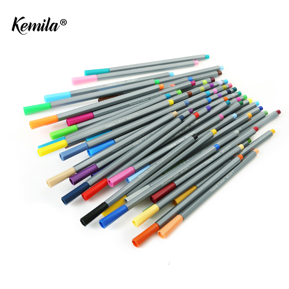 60 Colors 0.4 MM Fine Liner Gel Pens Sketch Drawing Color Pen Art Markers For Drawing Manga Design Art Set School design promotion touchfive 80 color art marker set fatty alcoholic dual headed artist sketch markers pen student standard