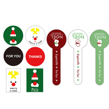 120pcs/lot Snowman White Green Red Christmas Sticker Seal DIY Decorative Sealing Label Two Choices
