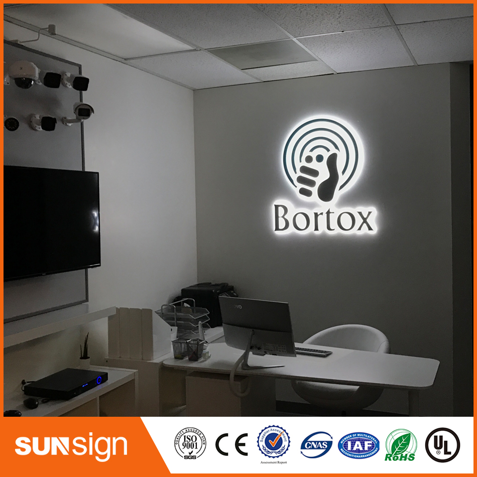 Factory Outlet Stainless Steel Outdoor Advertising Signboard Letters LED Backlit Signs