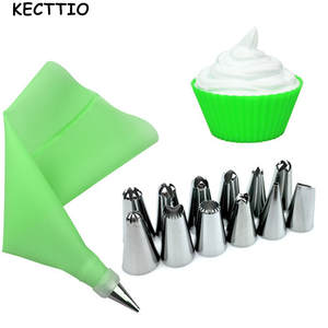KECTTIO 14PCS/Set Silicone 12pcs Nozzle 1pc