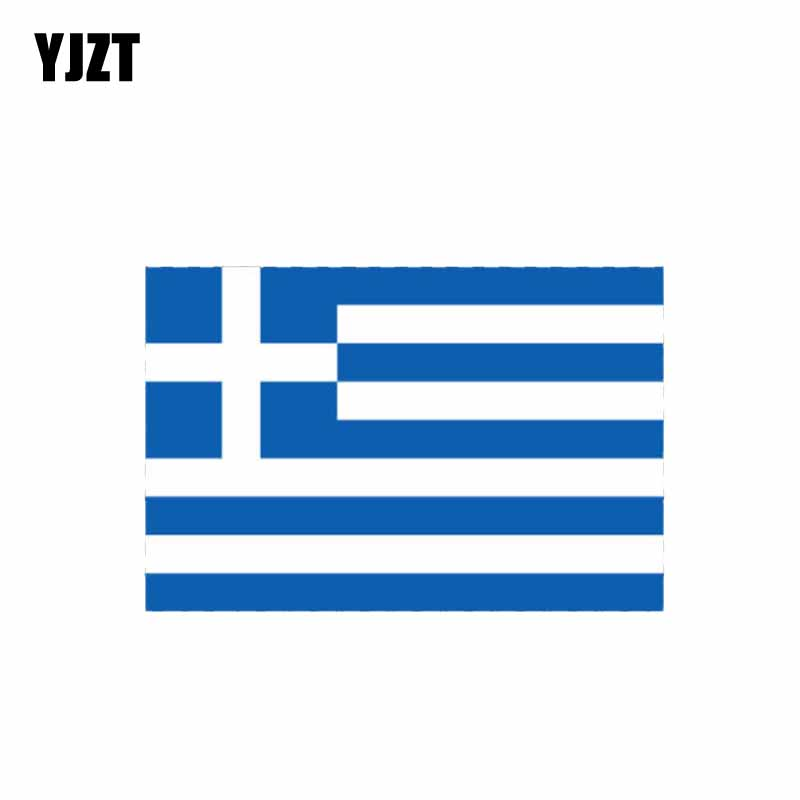 YJZT 11CM*7.1CM Creative Funny Greece Flag Car Sticker PVC Motorcycle Decal 6-1082