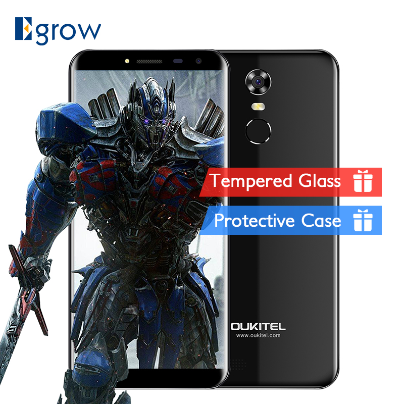 Oukitel C8 teléfono móvil 5,5 pulgadas 18:9 HD pantalla teléfono Quad Core 2 GB RAM 16 GB ROM 13MP Android 7,0 3000 mAh Touch ID Smartphone