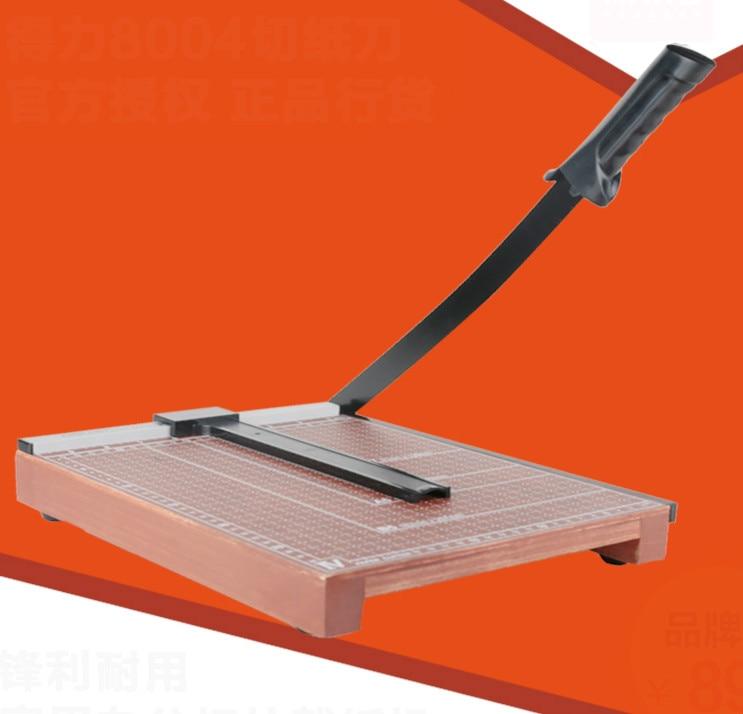 DELI Paper Cutter Munal Wooden Paper-cutter Office Cutting Machine B3 Paper Trimmer Photo Paper Cutter Office Cutting Supplies