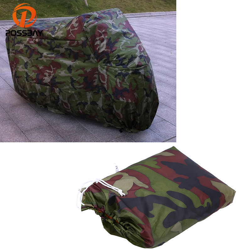 POSSBAY Universal Motorcycle Covers UV Rain Resistant Protector Waterproof Dustproof Scooter Covering Camouflage For Harley KTM