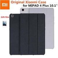 Slim Original Xiaomi mipad 4 plus 10.1 Smart Magnet Mi Pad4 Mipad 4 plus 10 Case capa De Couro PU+PC Wake Auto Sleep Cover+Film