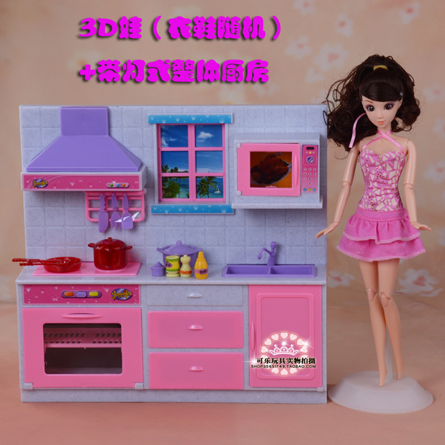 toys r us kitchens polished brass kitchen faucet doll cabinet set dollhouse cookhouse furniture with light accessories for barbie kelly ken children