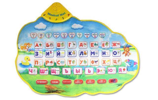 1 pcs 73*49cm Children Learning Mat Russian Language Toy Funny Alphabet Mat Learning Education Phonetic Sound Carpet Baby Toy