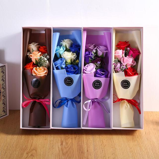 Artificial Flower Soap Flower Roses Gift Box Valentine S Day