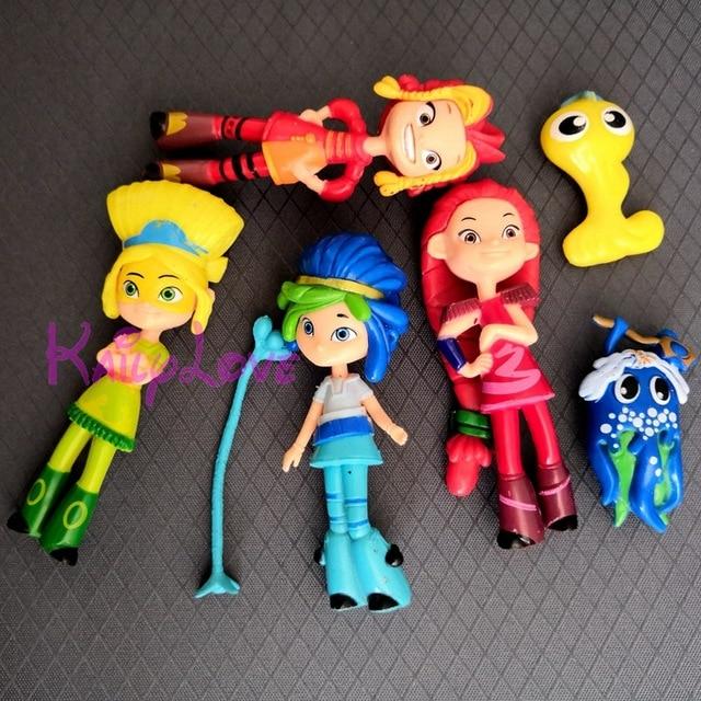 Nuevo 4 unids/set Hada patrulla ruso niñas juguetes 10 cm PVC princesa Matryoshka Nendoroid Anime figura vinilo muñeca lindo regalo
