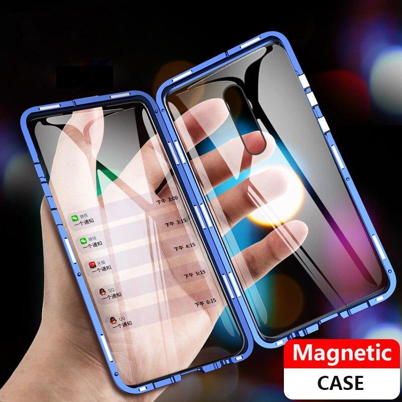 360 Completo Caso Magnética para Xiao mi mi 9t Caso capa Xiao mi mi 9t Pro Vidro Vermelho mi K20 Pro Caso Ímã Tampa de Vidro Temperado