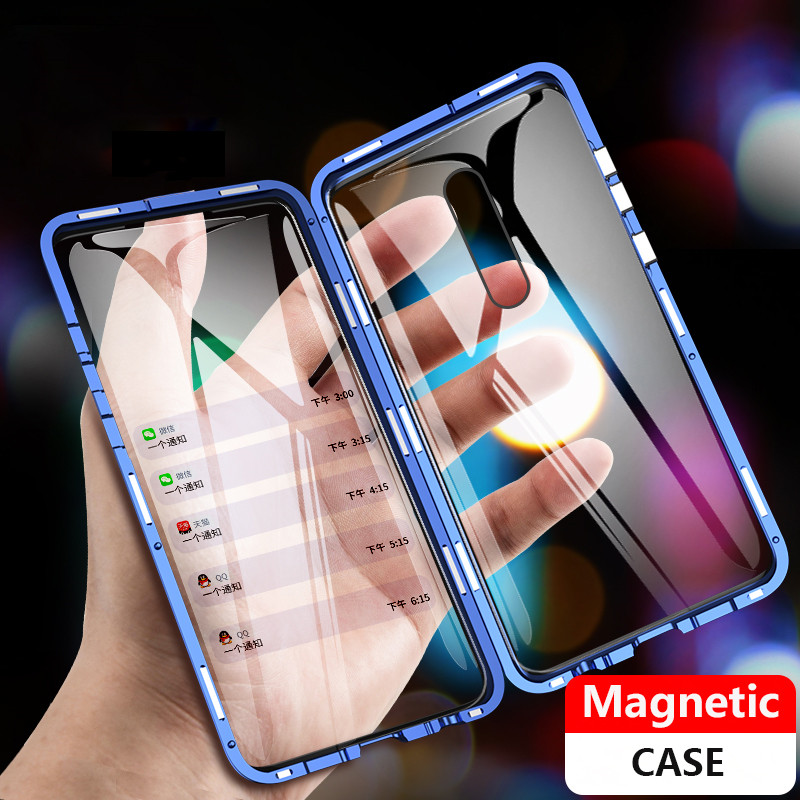 360 Completo Caso Xiaomi mi 9t Caso Magnético 9t Pro Vidro Da Frente Para Trás Caso Xiaomi redmi K20 Pro Caso Ímã Tampa de Vidro Temperado