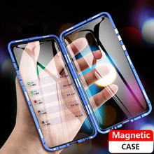 360 Full Magnetic Case for Xiaomi mi 9t mi9t Pro Glass Redmi K20 Magnet Tempered Cover