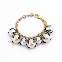 Канада модные женские Лидер продаж классический браслет золото Цвет элегантный большой смолы создан жемчужный браслет