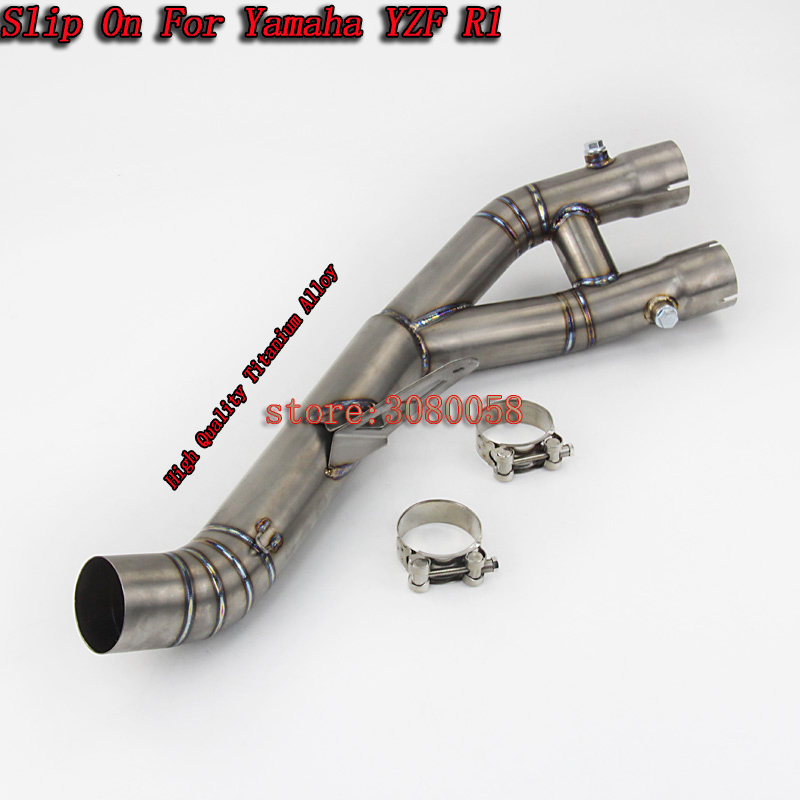 Titanium Alloy And Carbon Fiber Motorcycle Exhaust Pipe All System Slip-On Muffler escape moto For Yamaha YZF-R1 YZF R1(2015-17)