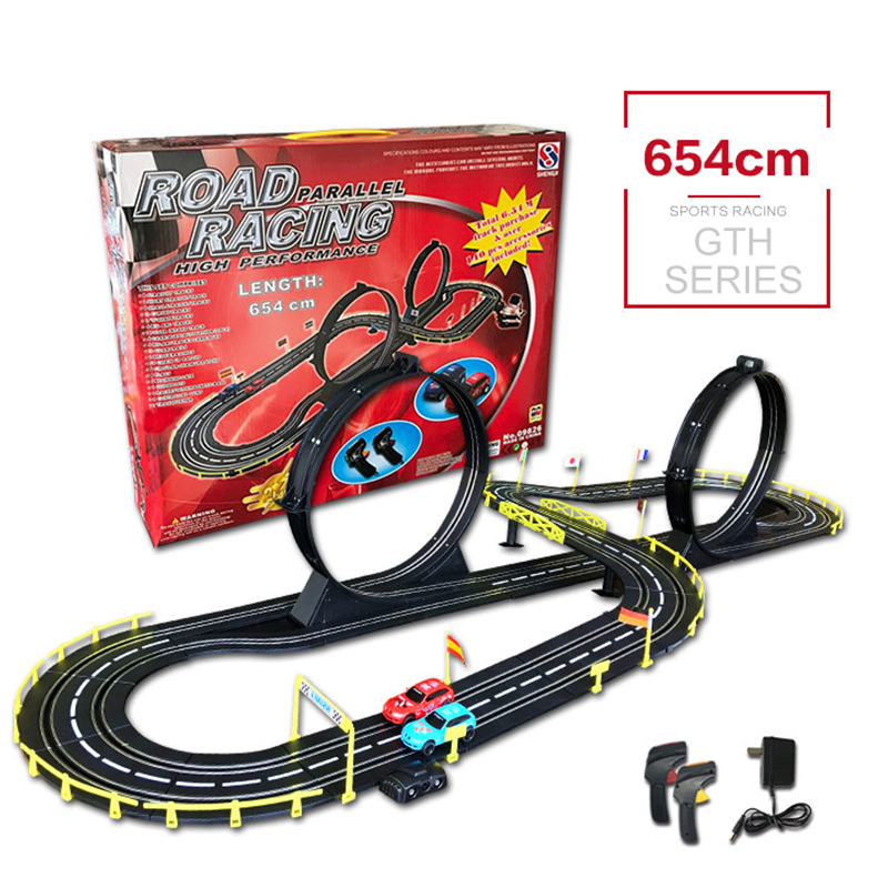 Genuine RC Car Toys High Speed Track 1:43 Electric Wired Remote Racing Car Toys Learning DIY Building Creative Track Toy For Boy