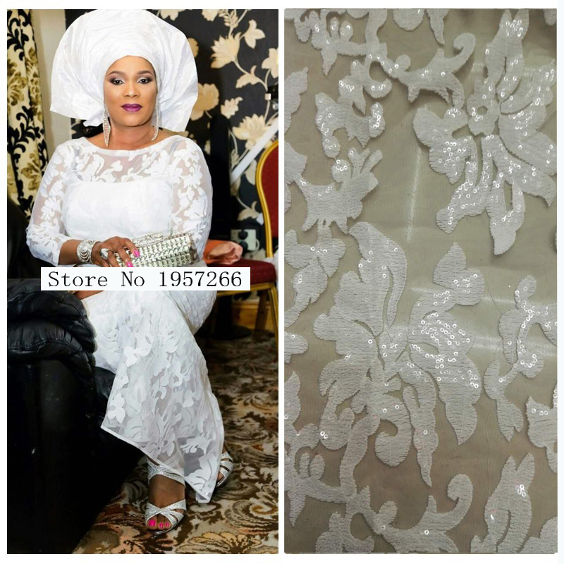 French Net Lace Fabric Latest african guipure lace fabric with embroidery mesh tulle water white cord