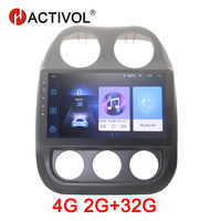HACTIVOL 2G+32G Android 8.1 Car Radio for Jeep Compass 2011 car dvd player gps navigation car accessory 4G multimedia player